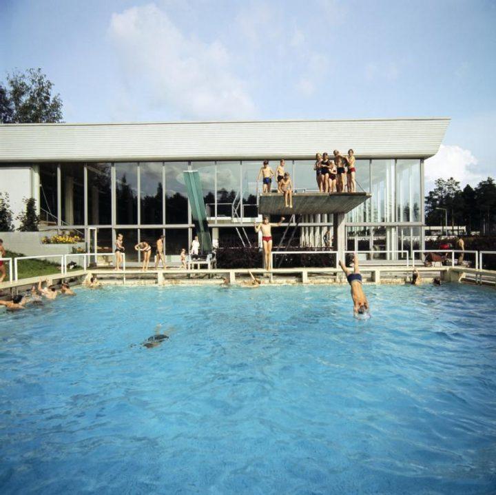 Outdoor pool, Tapiola Swimming Hall
