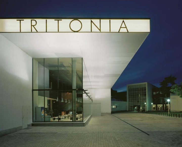 Entrance canopy, Tritonia Science Library