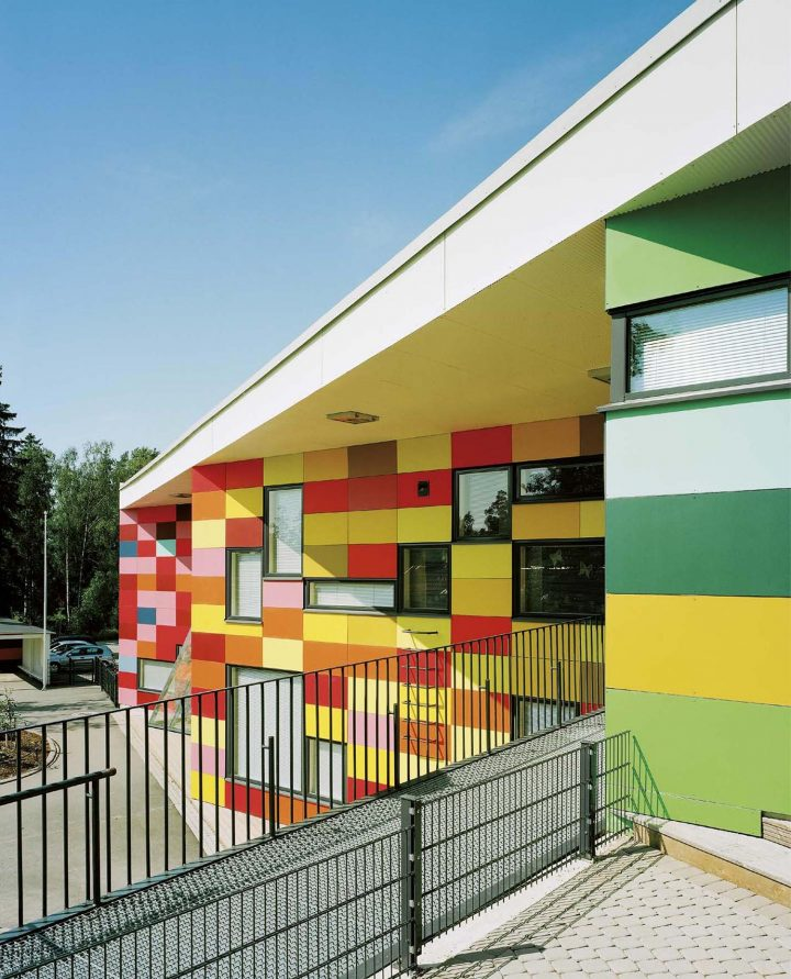 South elevation, Tuomarila Daycare Centre