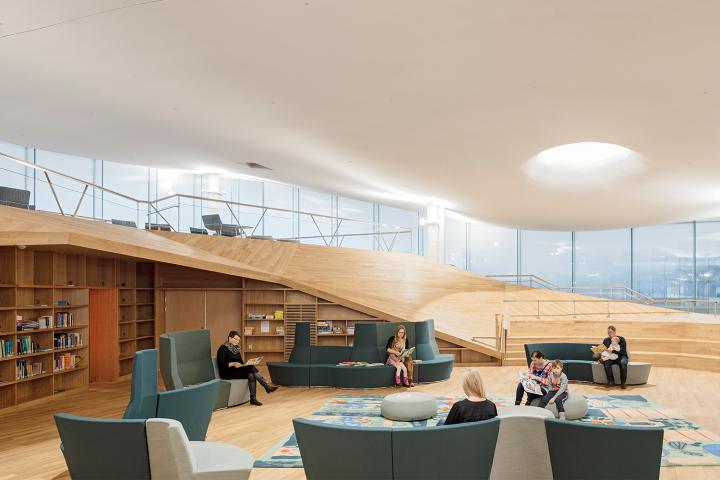 Top floor children's library, Helsinki Central Library Oodi