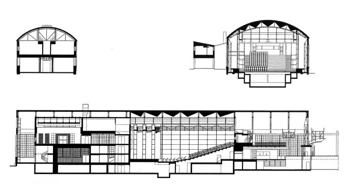 Section plan of the conservatory, Turku Arts Academy & Conservatory