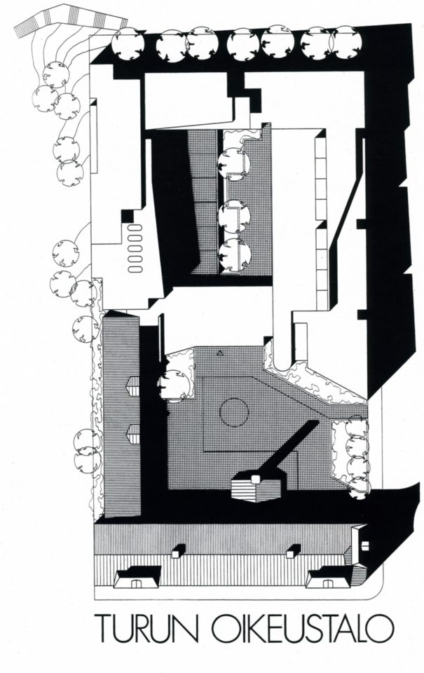 Site plan, Turku Courthouse