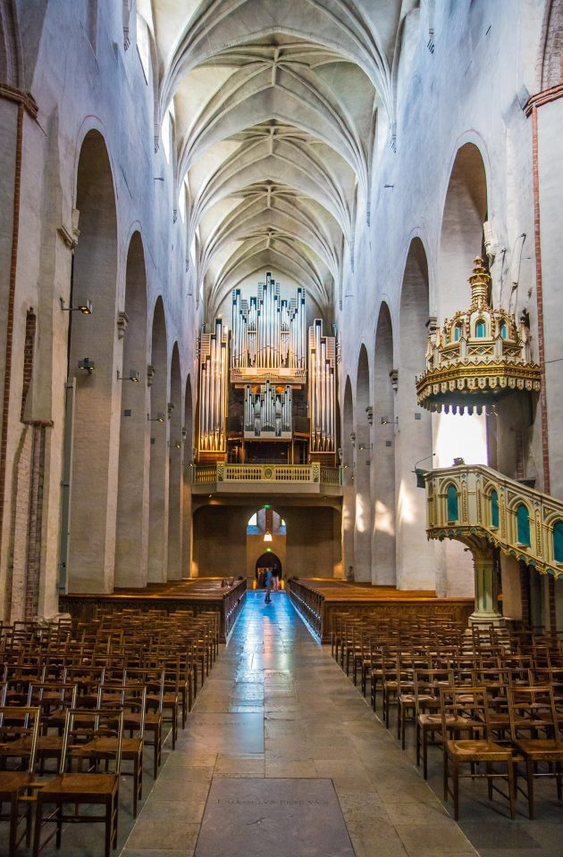 Interior, pulpit on the right, Turku Cathedral
