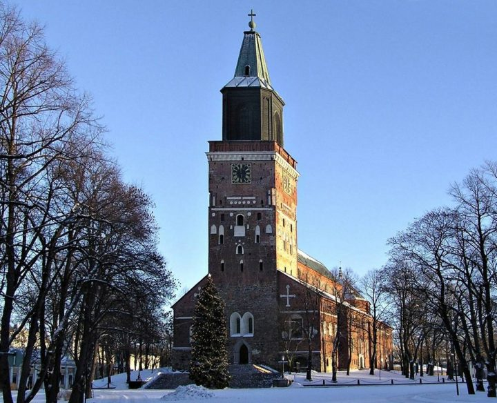Cathedral photographed form the west, Turku Cathedral