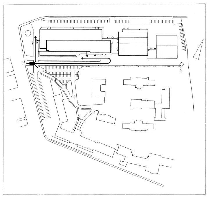 Site plan, Turku University Hospital, U Building