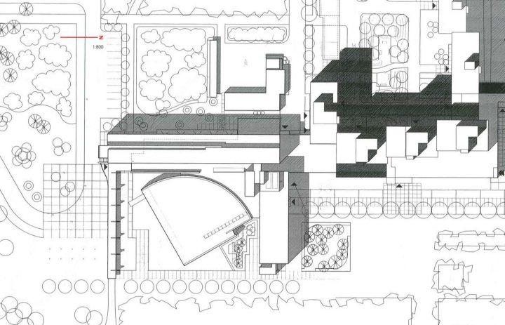 Site plan, University of Oulu Main Building
