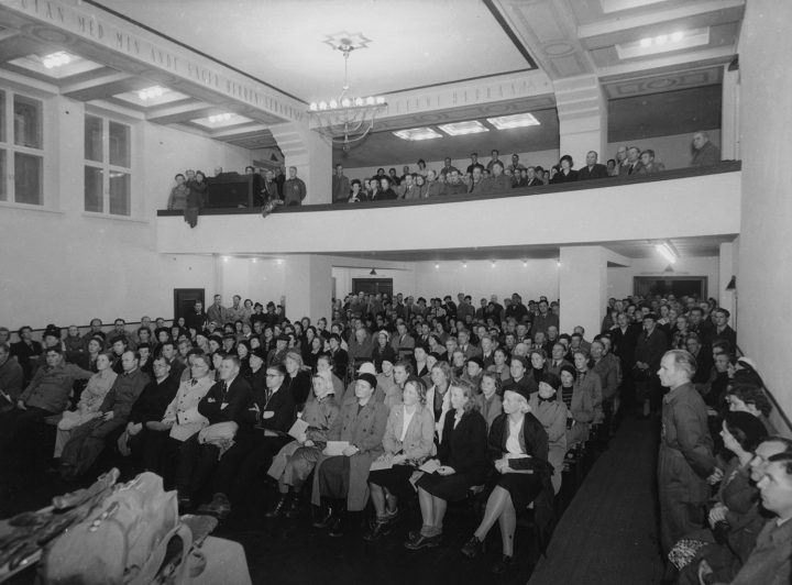 Assembly hall in the wartime, Helsinki YWCA House