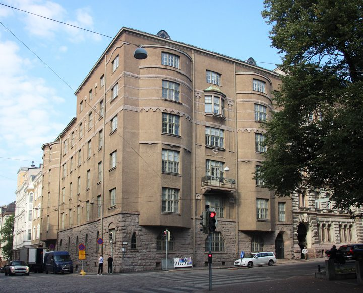 Street façade, Uudenmaankatu 5 Art Nouveau Building