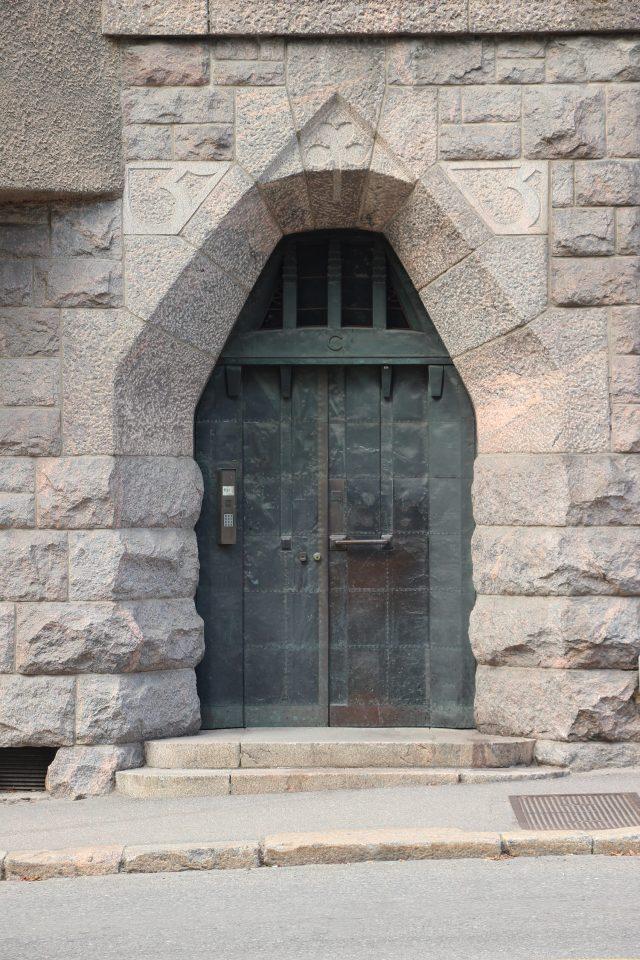 Uudenmaankatu entrance, Uudenmaankatu 5 Art Nouveau Building