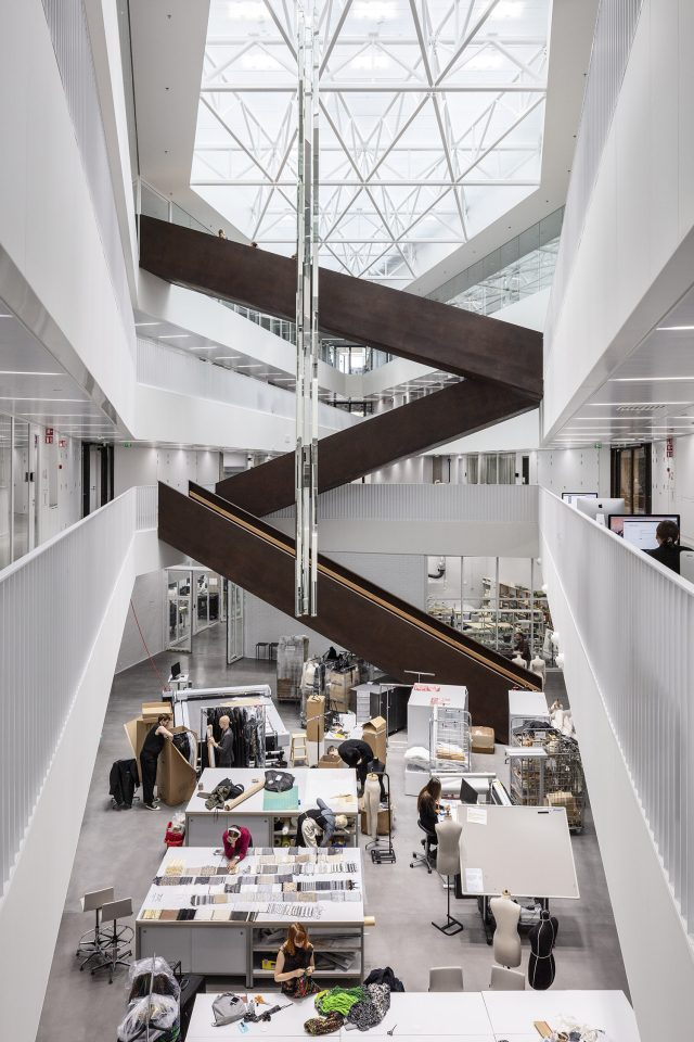 Learning spaces formed around an atrium, Aalto University Väre Building