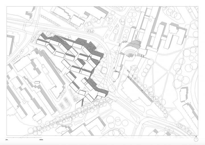 Site plan, Aalto University Väre Building