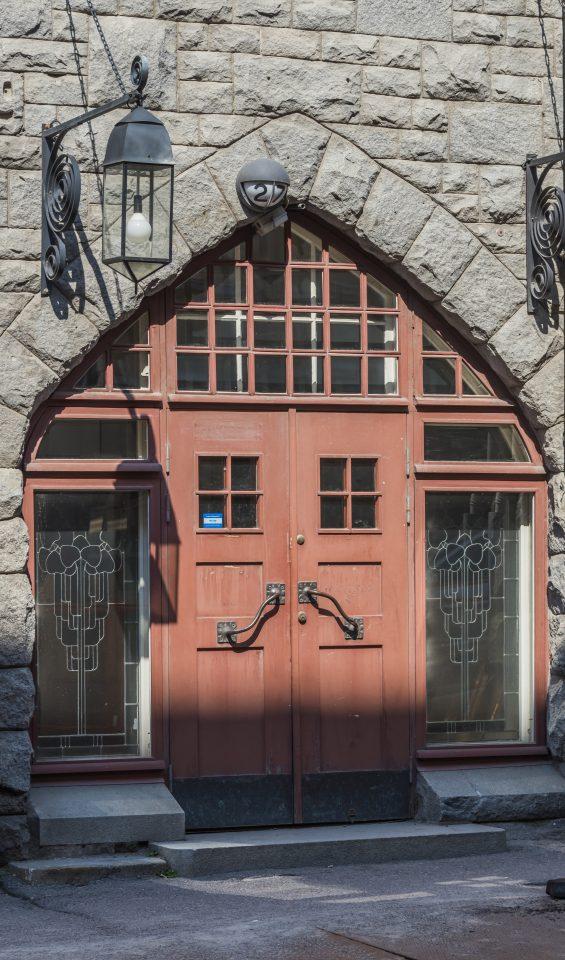 Street entrance, Vanha Poli Student Union Building