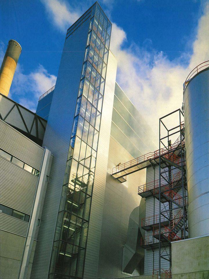 Boiler room elevation, Varkaus Paper Mill Additives Processing Unit