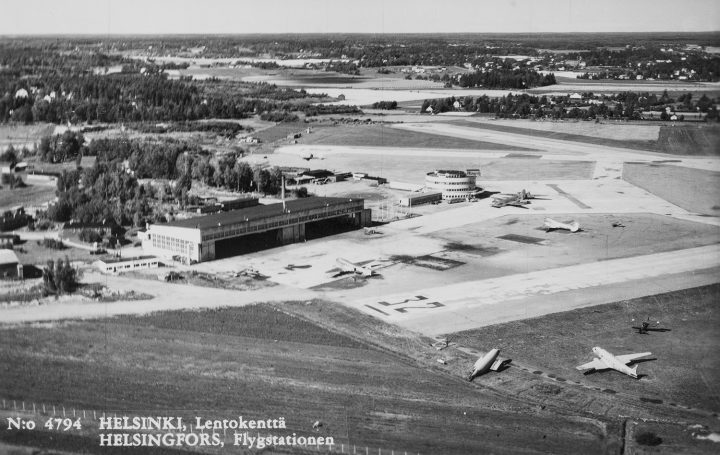 Aerial view from the East in 1948, Malmi Airport