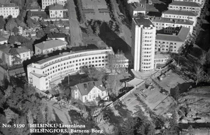 Aerial view in 1948, Lastenlinna Children's Hospital