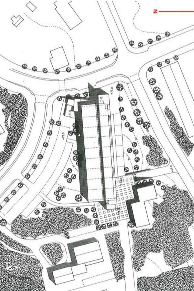 Site plan, Vihti Main Library