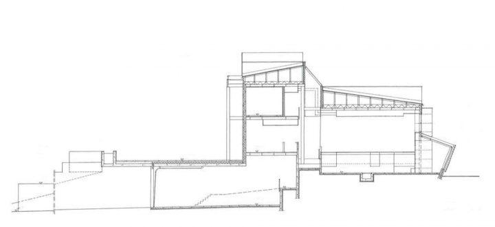 Section plan, Vihti Main Library