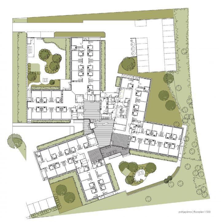 Site plan and floor plan, Villa Andante Nursing Home