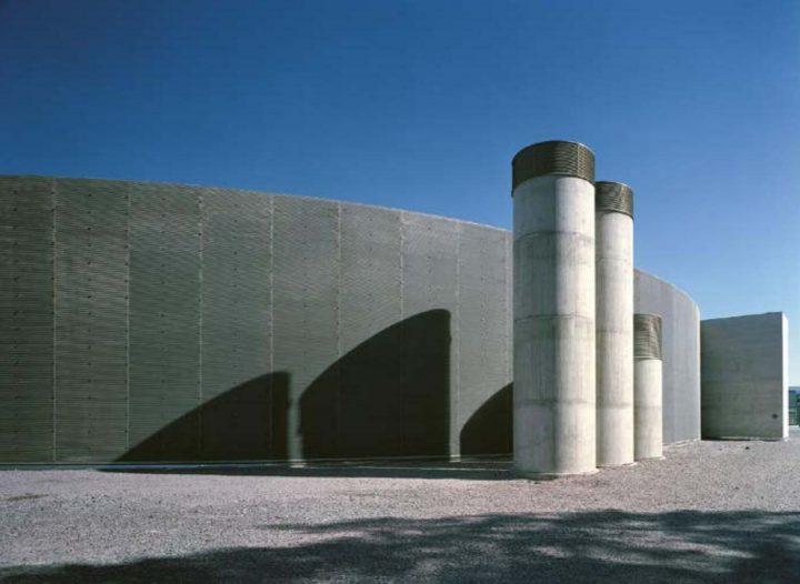 Concrete ventilation ducts, Vuotalo Cultural Centre