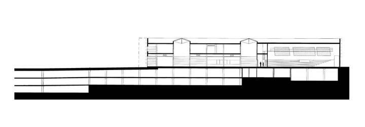 Section plan, Vuotalo Cultural Centre