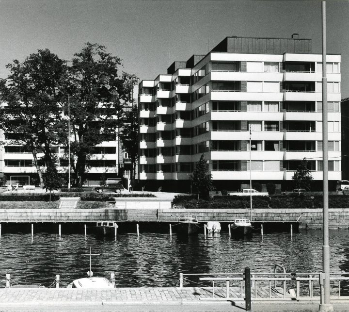 Wilenia photographed from the opposite side of the river Aura in the 1960s, Wilenia Housing
