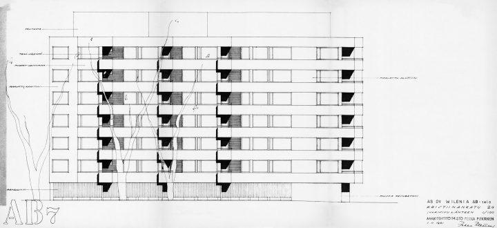 Original drawing, Wilenia Housing