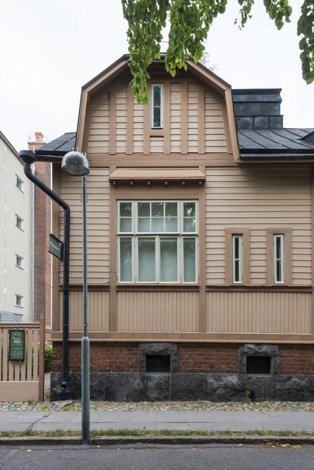 A detail of the street façade, Worker Housing Museum