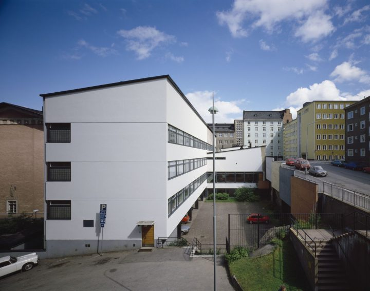 Extension from 1959 photographed from the west, Helsinki Worker's Institute
