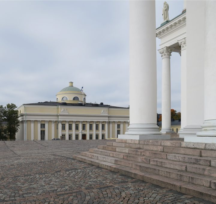 National Library seen from Helsinki Cathedral, National Library of Finland
