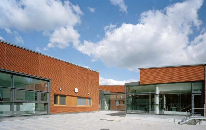 School yard façade, Ymmersta School