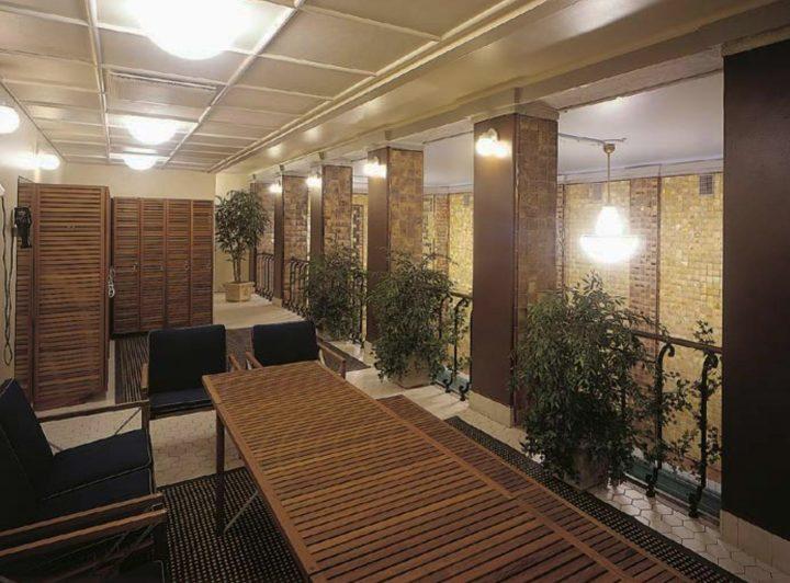 Third floor private sauna, Yrjönkatu Swimming Hall