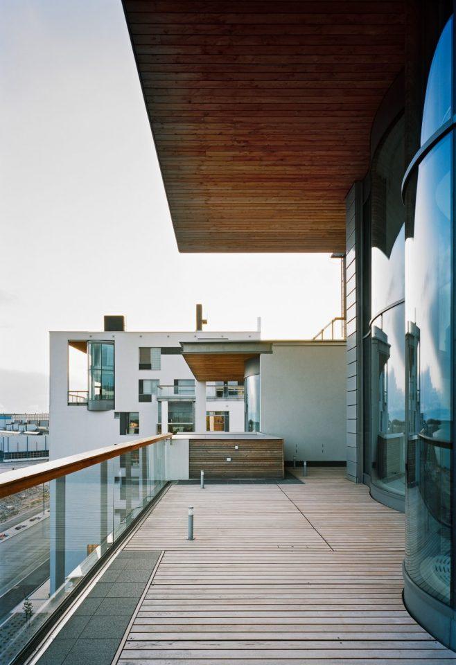 View from a top floor balcony, Eiranranta Housing