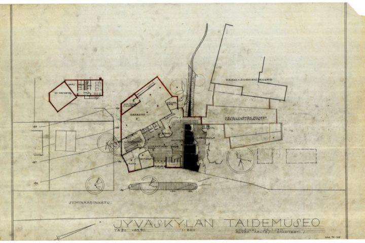 Site plan, Alvar Aalto Museum