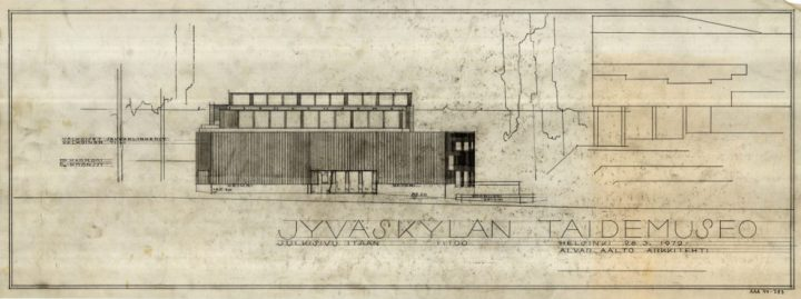 East elevation, Alvar Aalto Museum