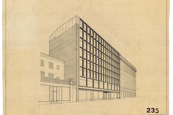 Elevation perspective drawing, Iron House