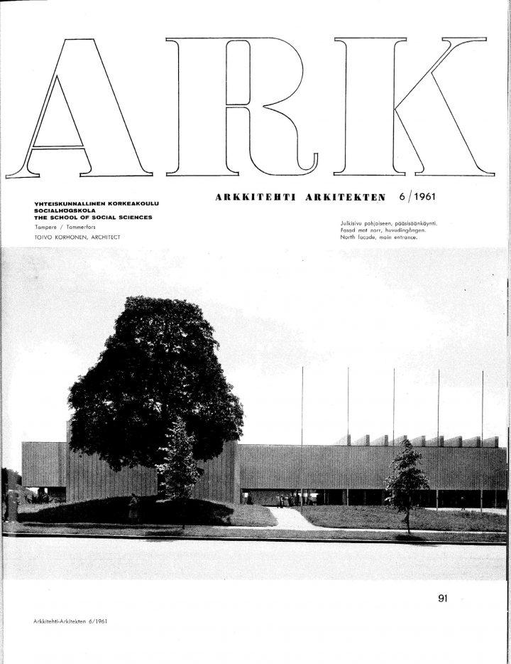 Main façade, Tampere University Main Building