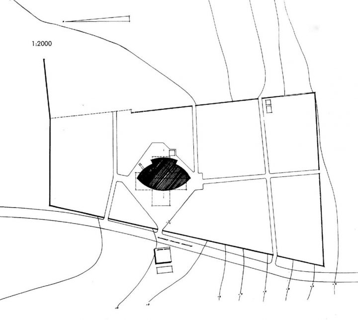 Original site plan, Orivesi Church