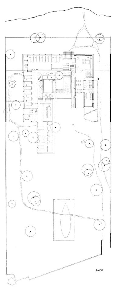 Site plan and floor plan, The Siren House