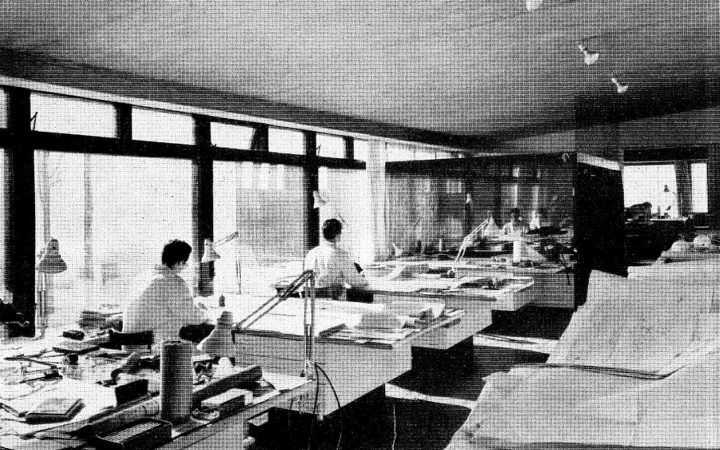 Office interior in the 1960s, The Siren House