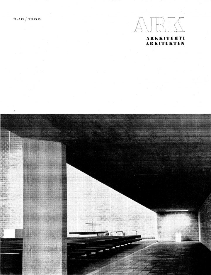 Cover of the Finnish Architecural Review, Tapiola Church