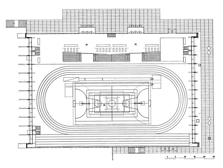 Floor plan of the 1st floor, Kupittaa Sports Hall