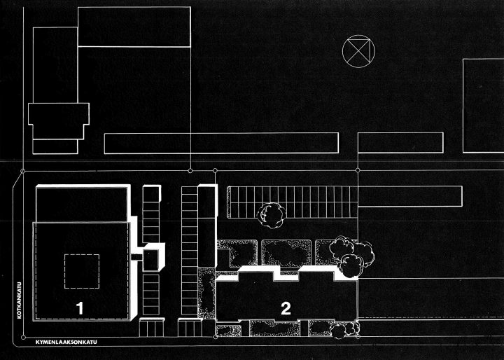 Site plan, Kotka Co-operative Bank
