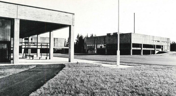 Barracks area central square, Vekaranjärvi Garrison Centre
