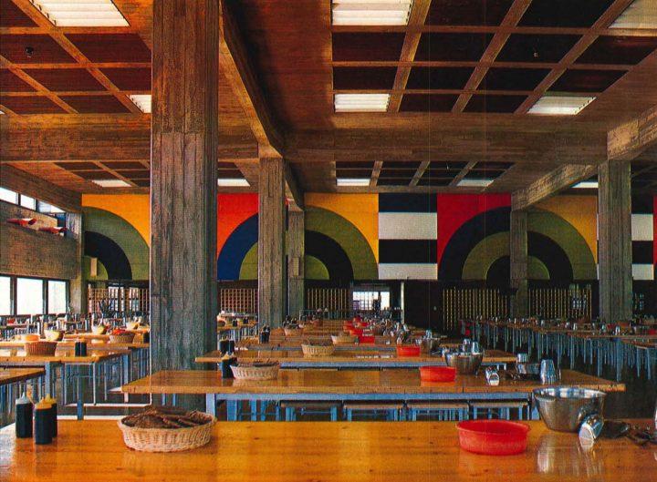 Interior of the dining hall, Vekaranjärvi Garrison Centre
