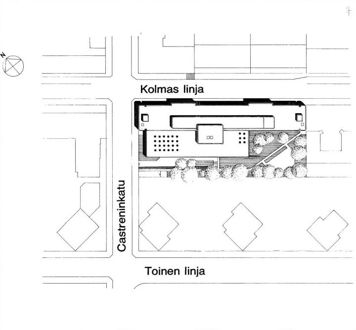 Site plan, Helsinki Federation of Parishes