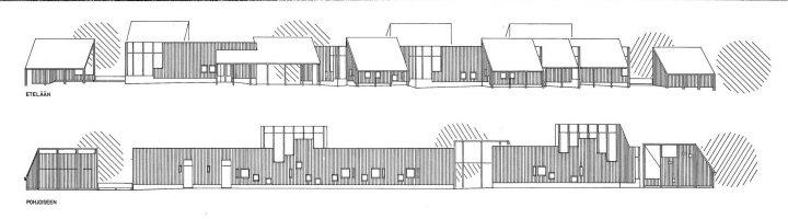 Elevation plans, Länsi-Säkylä Daycare Centre Onnimanni
