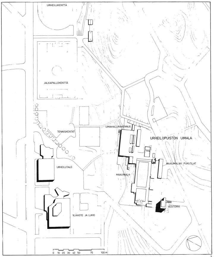 Site plan, Riihimäki Sports Park
