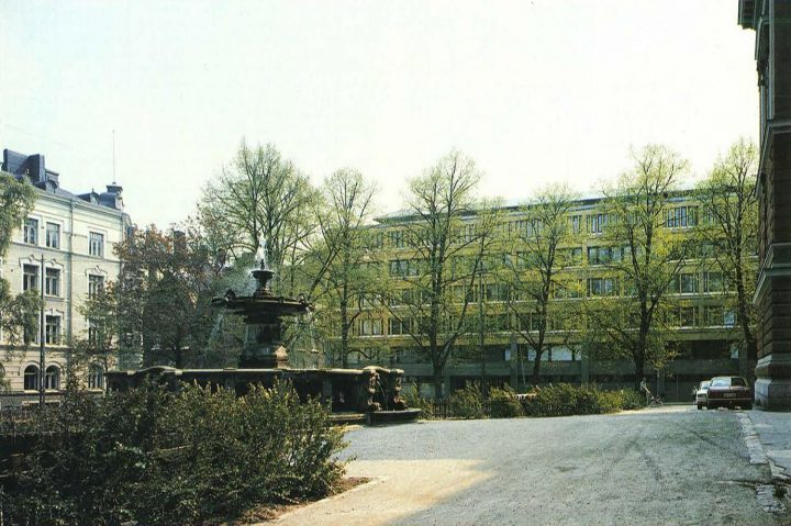 View from the north, across the House of Estates park, Ministry of the Interior