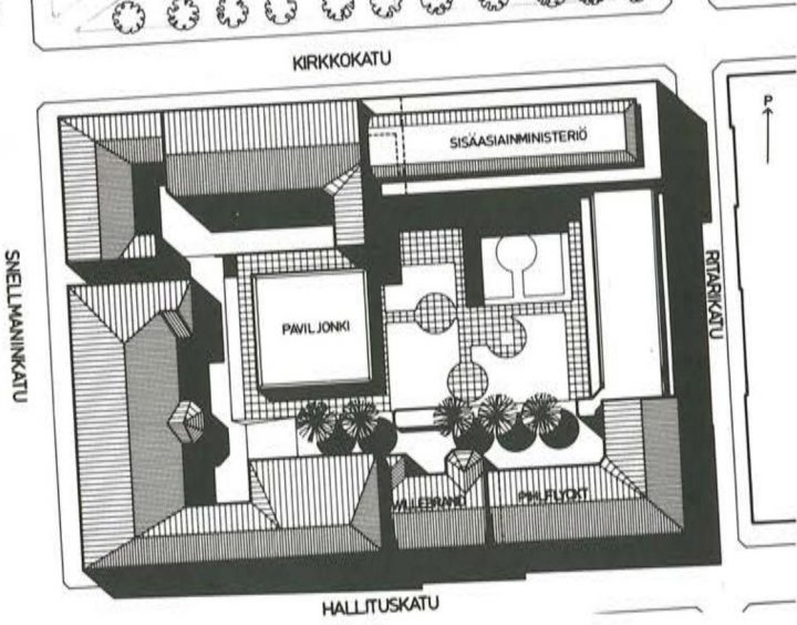 Site plan, Ministry of the Interior