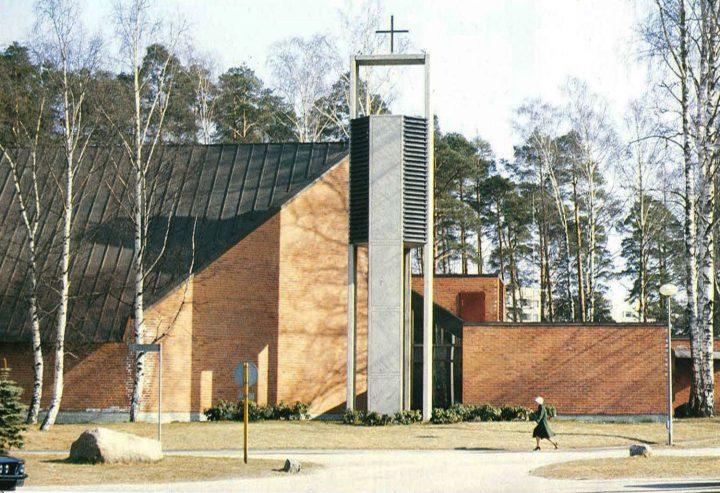 North west façade, Vuosaari Church